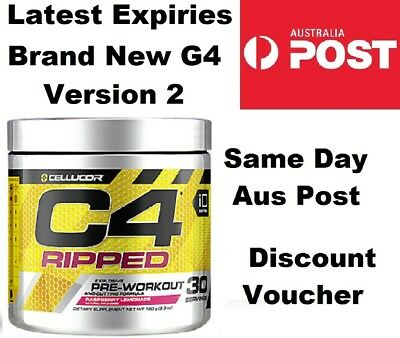 Cellucor C4 Ripped Raspberry Lemonade 180g 30 Serve Thermagenic Pre Workout