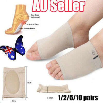 ARCH Support Shoe GEL Insole Flat Feet Pad PAIN RELIEF Plantar Fasciitis Foot EF