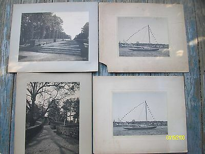 4 Antique Original Carrere & Hastings Architecture B&W photo & 2 Old Sailboats
