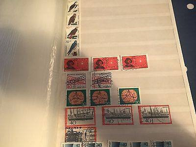 Germany Bund used and nhm stamps in stockbook good cat value