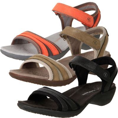 New Hush Puppies Women's Wide Leather Comfort Wedge Sandals Athos Cheap