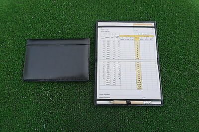 Traditional Black leather golf scorecard holder - Original and Best