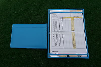 Traditional Blue leather golf scorecard holder - Original and Best