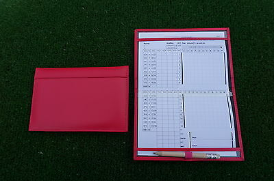 Miclub A5 Std Pink leather golf scorecard holder - Original and still the Best