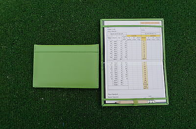 Traditional Green leather golf scorecard holder - Original and Best