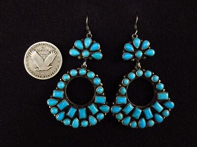 Navajo Earrings - Sterling Silver and Turquoise - Emma Lincoln
