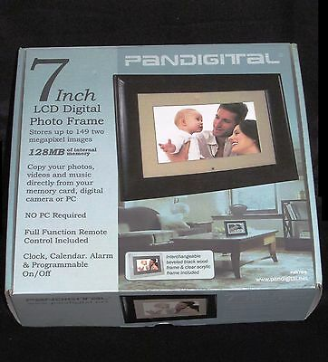 """Pandigital PAN701 7"""" Digital Picture Frame with Remote - 100% Brand New in Box"""