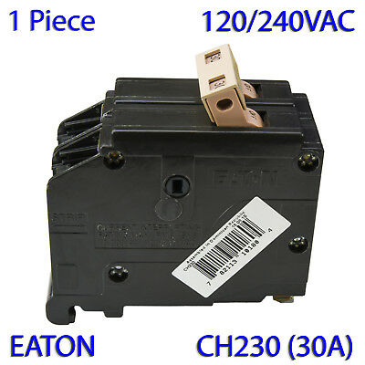 "(1 PC) Eaton CH230 (30A) 3/4"" CH Type Double Pole Circuit Breaker 120/240V"