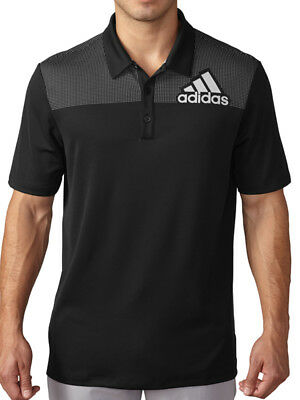 Adidas Big Logo Print Polo - Black