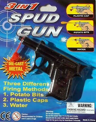 SPUD GUN 3 in 1  DICAST  BLACK FREE POST AUST WIDE