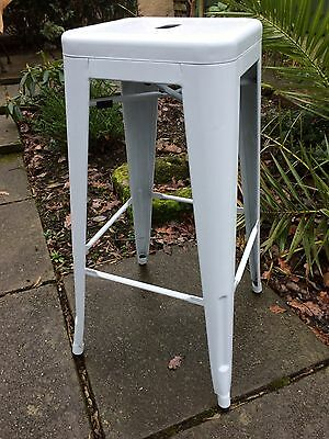 Vintage Style TOLIX Metal French Bistro / Kitchen / Bar High Stool Stacking