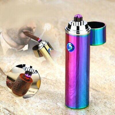 Electric Lighter Dual Arc Cigarette Plasma Rechargeable Windproof Flameless USB