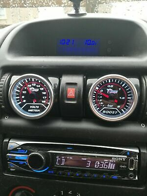 Vauxhall Astra G Air Vent Gauge Pod adapter Gloss black ABS plastic RHD or LHD