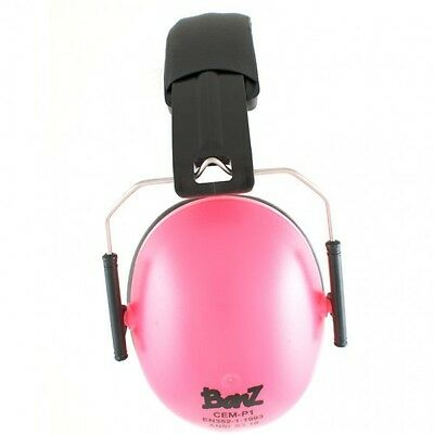 Kids Childs Banz Ear Defenders Earmuffs Protection Pink Baby 2yrs+ Boys Girls