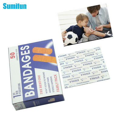 50pcs/Box Waterproof First Aid Bandage Hemostatic Band-Aid Plaster Z13401