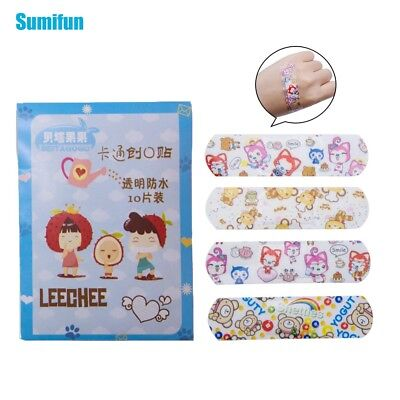 100pcs/10Bags Cartoon Band Aid Adhesive Bandages First Aid Plasters C1201