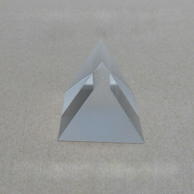 4x4x4x4cm K9 Optical Glass Equilateral Triple Triangular Prism Science survey