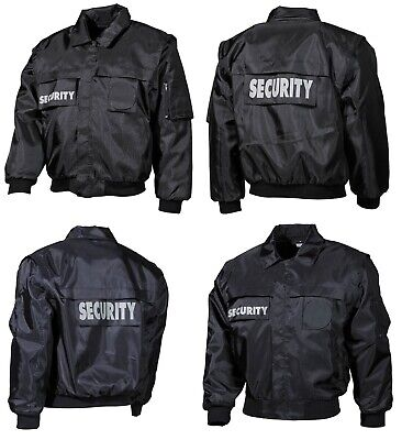 Blouson Security 2 in 1 Weste Jacke Einsatzjacke Futter Patches Bomberjacke
