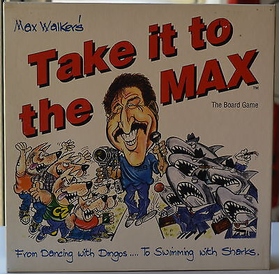 "Max Walker ""Take it to the Max"" Board Game Excellent Condition PICK UP OR POST"
