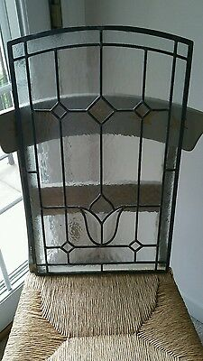 Leaded Glass Inserts (4) Pick Up Only Great For Kitchen Cabinets