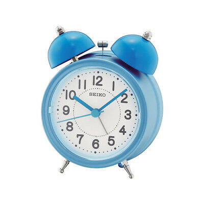 Seiko Bell Alarm Clock With Light And Snooze - Blue