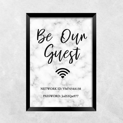 wifi password be our guest PRINT ONLY a4 Gift Picture wall art  sc 1 st  PicClick UK & WIFI PASSWORD BE our guest PRINT ONLY a4 Gift Picture wall art ...