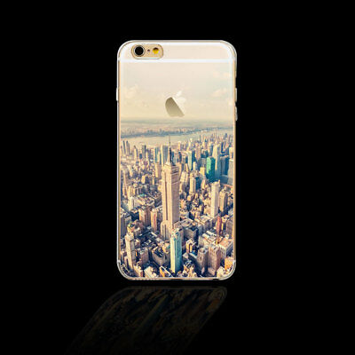 New York Pattern Slim Soft Rubber Phone Case Cover for Iphone 5 5S 6 6S 7 8 Plus