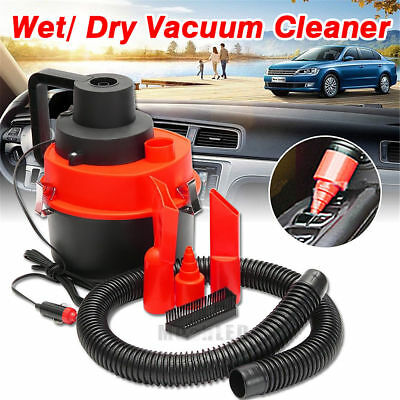 Red Wet Dry Vac Vacuum Cleaner Portable Inflator Turbo Hand Held for Car Shop