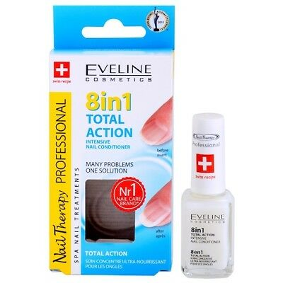 EVELINE 8in1 TOTAL ACTION INTENSIVE NAIL CONDITIONER 12ml Nail Strengthener 8w1