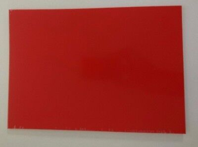 Gloss Red Plasticard 0.5mm 20 thou Sheet A4 High Impact Polystyrene