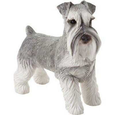 Schnauzer Figurine Hand Painted Gray Uncropped – Sandicast