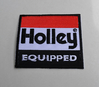 Holley Equipped,Patch,Holley Carbs,Aufnäher,Aufbügler,Badge,V8,Muscle Car
