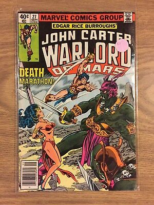 John Carter Warlord Of Mars #27 1977 Maybe FN Marvel