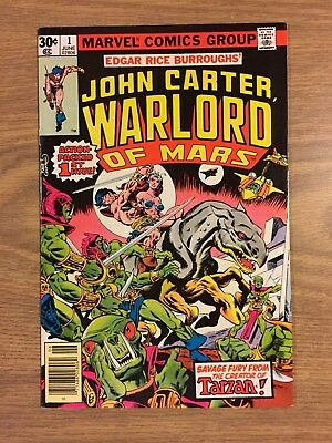 John Carter Warlord Of Mars #1 1977 FN to VF Marvel