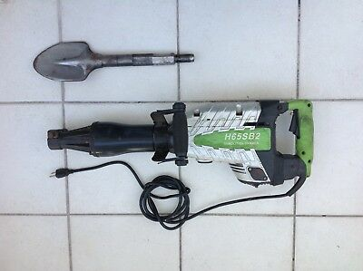 H65 1-1/8 Hex Shank Demolition Hammer 1500W 2100R/PMIN w/shovel bit included
