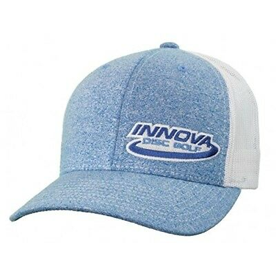 (Heather Blue) - Innova Logo Adjustable Mesh Disc Golf Hat. Free Shipping