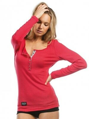 (Pink - pink, Large) - Mons Royale Women's Pop Pop Top. Free Delivery