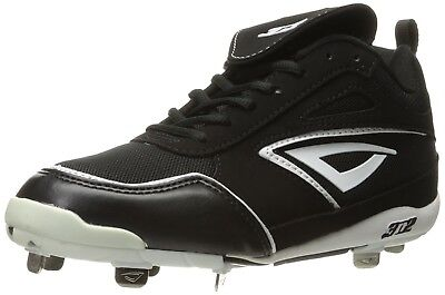 (11.5, Black/White) - 3N2 Women's Rally Metal Fastpitch. Shipping is Free