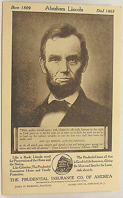 Prudential Insurance Co Ad featuring Abe Lincoln