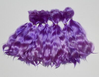 Angora Mohair locks ~ Electric Violet Ombre 12 grams ~ doll hair reroot bjd wig