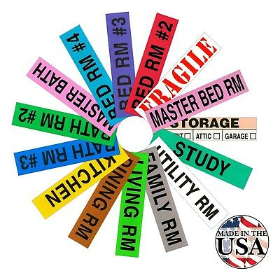 Tag-A-Room Color Coded Home Moving Box Labels 800 Count 4 Bedroom House Pack ...