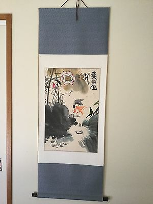HANDPAINTED original Chinese scroll 148 x 52 cm undamaged