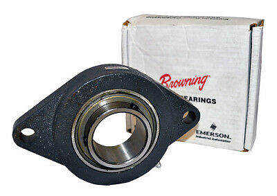 VF2S-135 Browning Mounted Ball Bearing 2-Bolt Flange 2-3/16 Bore Diameter