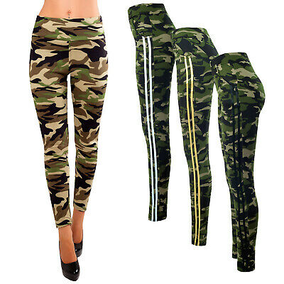 Damen Thermo Leggings Winter Fell-Leggings Army Military Hose Tarn Camouflage