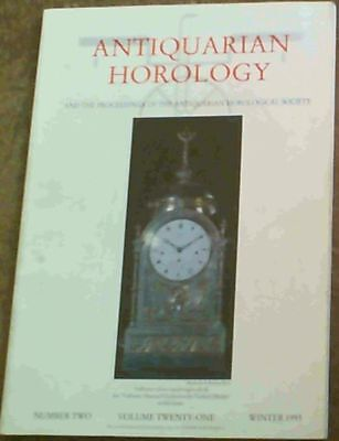 Vaughan, Dr. Denys .. The Antiquarian Horology Vol.XXI No. 2 Winter 1993