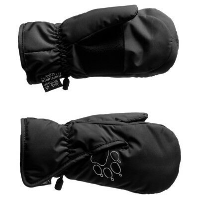 (116, Black - black) - Jack Wolfskin Kids Easy Entry mitten. Shipping Included