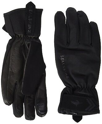 (X-Large, Black/Charcoal) - SealSkinz Women's All Season Gloves