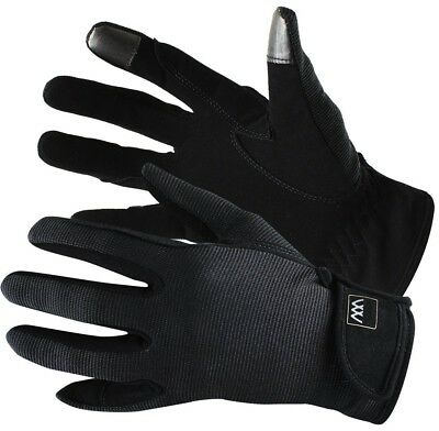 (Size 7.5, Black) - Woof Wear Smartphone Riding Glove. Free Delivery