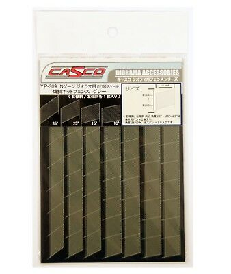 N Scale  Casco Tilt Net Fence, Grey