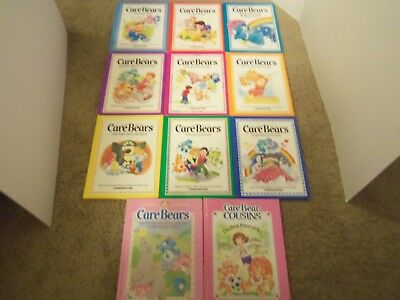 Lot 11 Vintage Care Bears & Cousins Parker Brothers Hardcover Children's Books